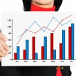 Graph of profit — Stock Photo