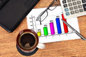 Business graphic — Stock Photo