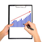 Chart on clipboard — Stock Photo