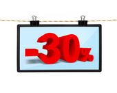 Screen with discount — Stock Photo