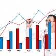 Stock Photo: Man drawing graph