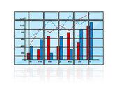 Business chart — Stock Photo