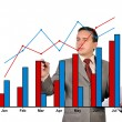 Businessman drawing chart — Stock Photo