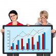 Panel with graph — Stock Photo #26357015