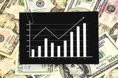 Papel con gráfico — Foto de Stock