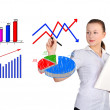 Girl drawing a graph — Stock Photo #27212983