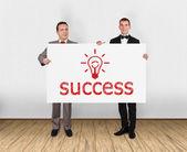 Placard con successo — Foto Stock