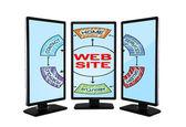 Web site scheme — Stock Photo
