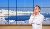Okyanus plazma panel — Stok fotoğraf