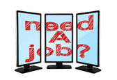 Monitors with need a job — Stock Photo