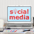 Social media — Stock fotografie #29855063
