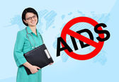 No aids concept — Stockfoto