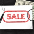 Poster with sale — Stock Photo