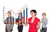 Women drawing graph — Stock Photo