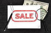 Cartaz com venda — Foto Stock