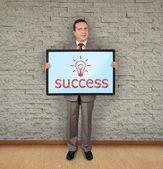 Plasma with success symbol — Stock Photo