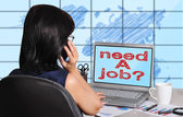 Need a job on screen — Stock Photo