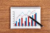 схема роста прибыли — Стоковое фото