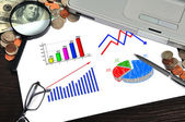 Business chart on paper — Stock Photo