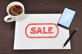 Sale and money — Stock Photo