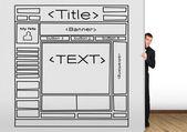 Zeichnung vorlage website — Stockfoto