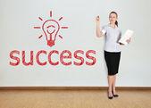 Drawing success — Stock Photo