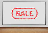 Blackboard with sale — Stockfoto