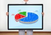 Plazma s výsečový graf — Stock fotografie