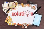 Solution symbol — Stockfoto
