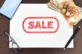 Försäljning symbol — Stockfoto