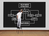 Ritning business system — Stockfoto