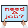 Need a job — Foto Stock
