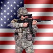 US soldier — Stock Photo