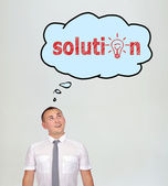 Solution over head — Stock Photo