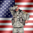 Stockfoto: Weary us soldier