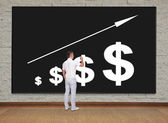 Businessman drawing chart — Stock Photo