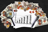 Paper with chart — Stock Photo