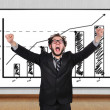 Crazy  businessman — Stock Photo