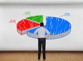 Parede com gráfico — Fotografia Stock