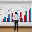 Stock Photo: Wall with chart