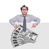 Drawing money — Stock Photo