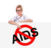 Stop aids symbol — Stock Photo