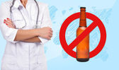 Stop alcohol symbol — Stock Photo