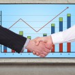 Handshake and chart — Stock Photo #39802315
