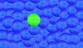 многие синий зонтик — Стоковое фото