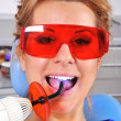 Stock Photo: Filling of tooth