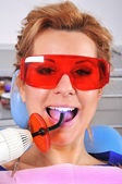 Filling of tooth — Stock Photo