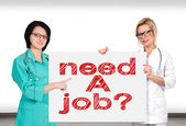 Poster with need a job — Stock Photo