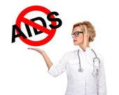 Stop aids znak — Zdjęcie stockowe