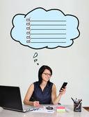 Businesswoman dreaming — Stock Photo